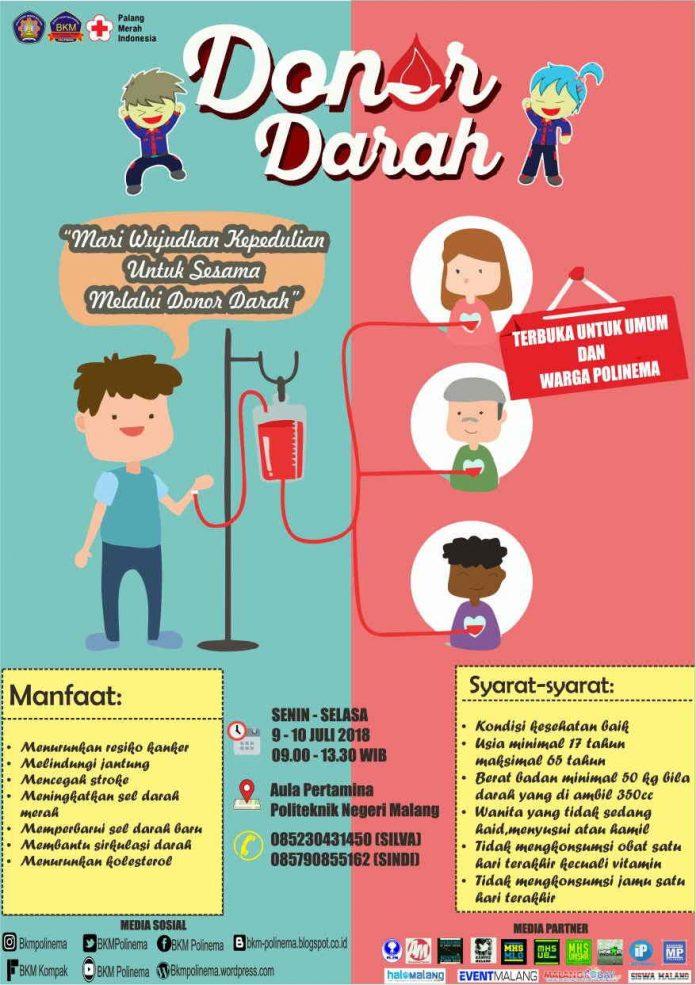 Tingkatkan Kepedulian Terhadap Sesama, BKM Polinema Gelar Acara Donor Darah