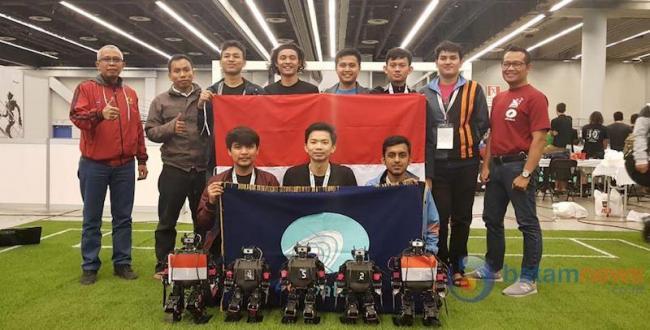 Mahasiswa Polibatam Juara III Dunia RoboCup 2018 di Kanada