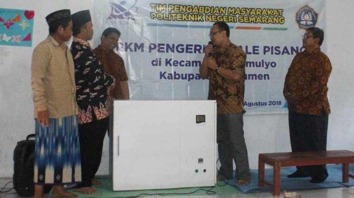 Dosen Polines Bantu Alat Pengeringan Sale Pisang di Kebumen