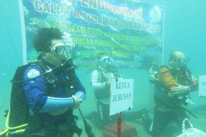 Politeknik Manado Gelar Kompetensi Keahlian Selam Dive Master