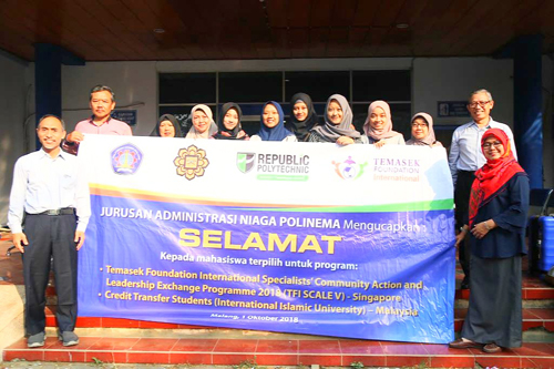 Mahasiswa Administrasi Niaga Polinema Bawa Nama Indonesia di Ajang TFI SCALE V di Singapura