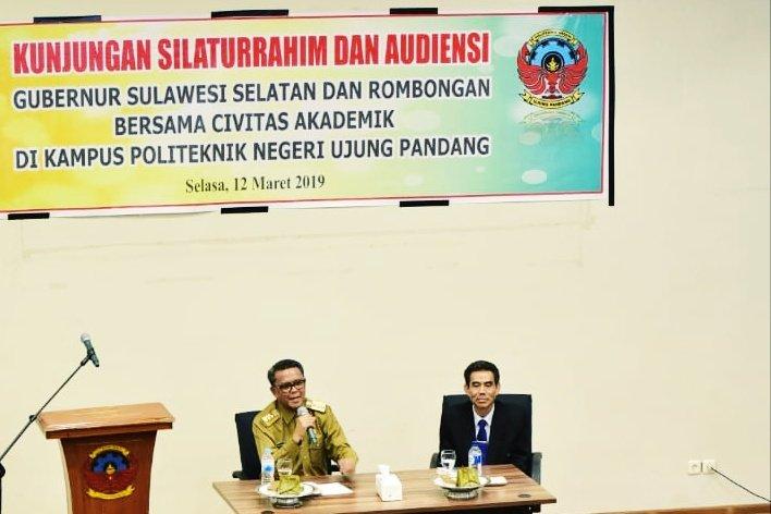 Gubernur Sulsel Kunjungi Politeknik Negeri Ujung Pandang