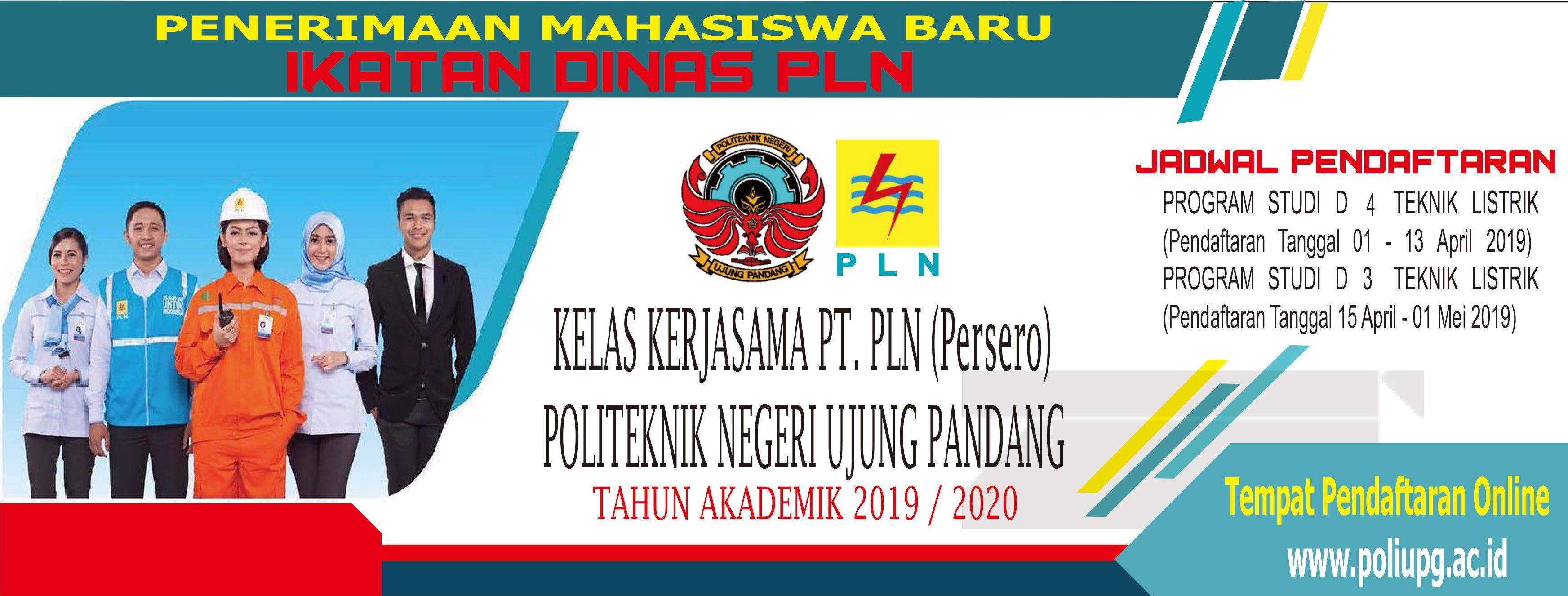 Perdana, PNUP Buka Pendaftaran Program D4 Ikatan Dinas PLN