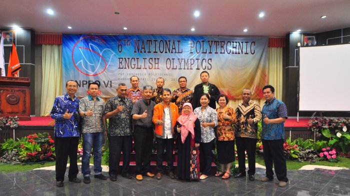 National Polytechnic English Olympics (NPEO) Ke-6 di Poltekpos Indonesia Sukses Digelar