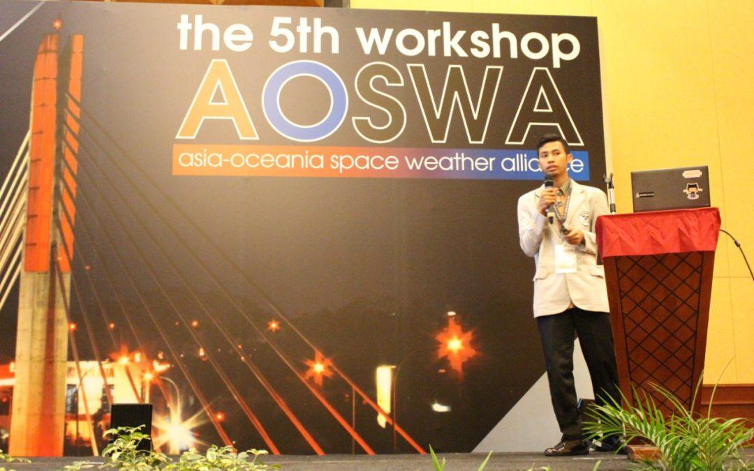 Mahasiswa PENS Berhasil Jadi Pembicara pada Perhelatan AOSWA 2018