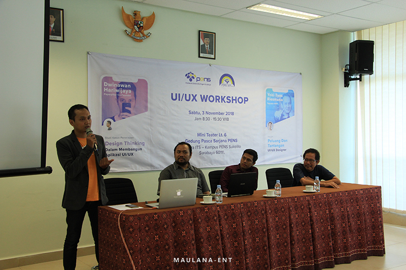 Kenalkan Design Thinking Era Digital, PENS Sky Venture Helat UI/UX Workshop