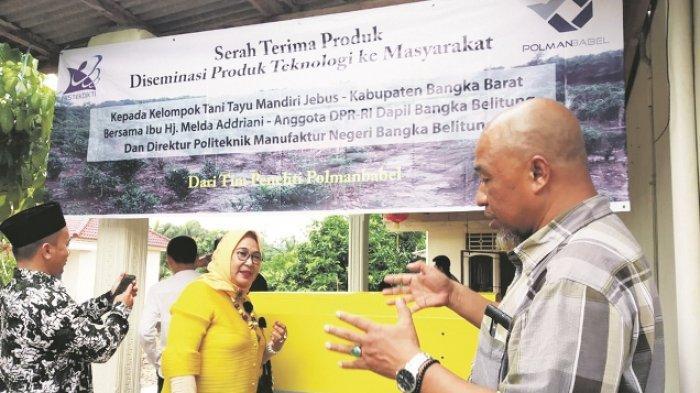 Program Pengabdian Polman Babel & Anggota DPR-RI Serahkan Produk DPTM ke Kelompok Tani Tayu Mandiri