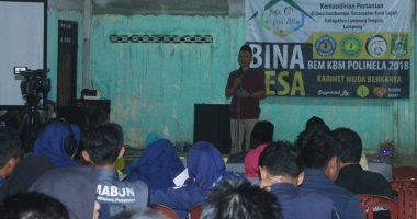 BEM Politeknik Negeri Lampung, Lakukan Bina Desa Di Kampung Sumber Rejo Lampung Tengah