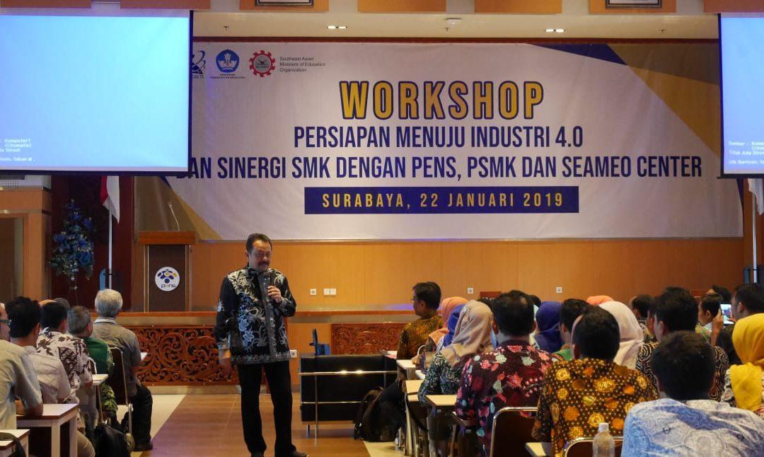 Siap Hadapi Persaingan Global, PENS Gelar Workshop dengan PSMK dan SEAMEO