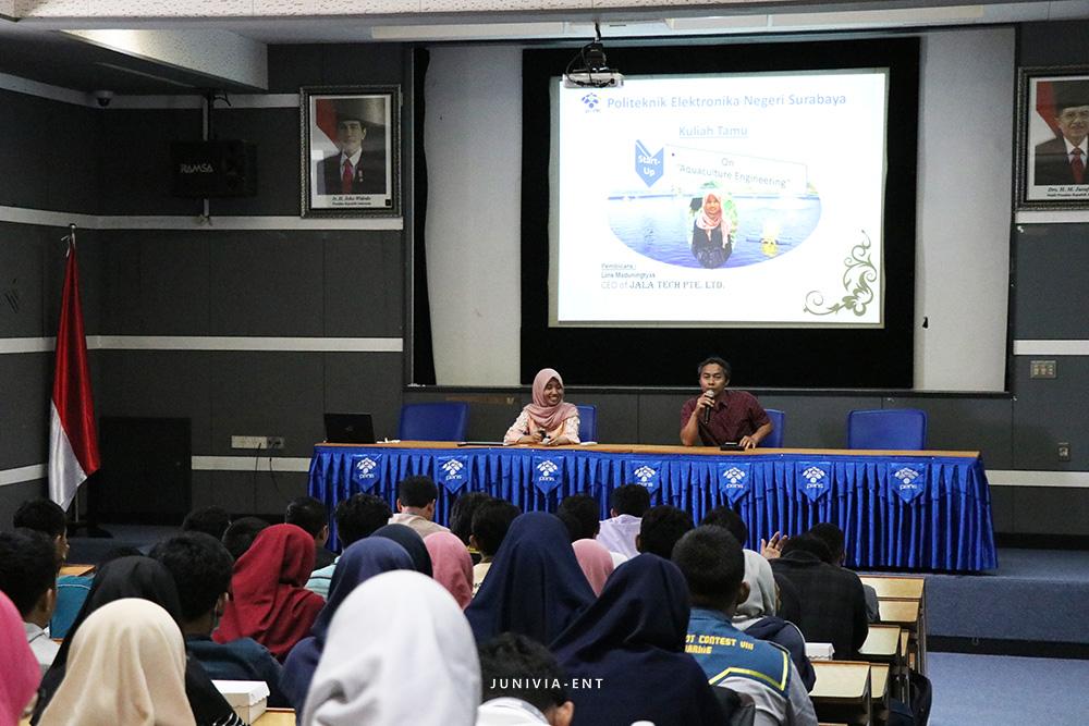 Memotivasi Mahasiswa untuk Membangun Start Up, PENS Gelar Kuliah Tamu