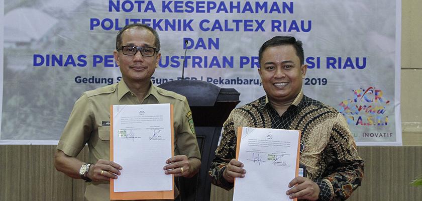 PCR Tanda Tangan MoU dengan Dinas Perindustrian Provinsi Riau