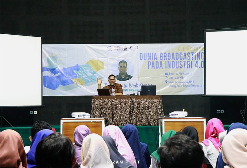 Gelar Kuliah Tamu, Prodi MMB Hadirkan Professional Broadcaster dari Trans 7
