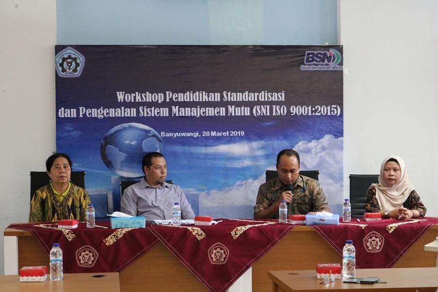 Poliwangi Adakan Workshop Pendidikan Standarisasi dan Pengenalan Sistem Manajemen Mutu dari BSN